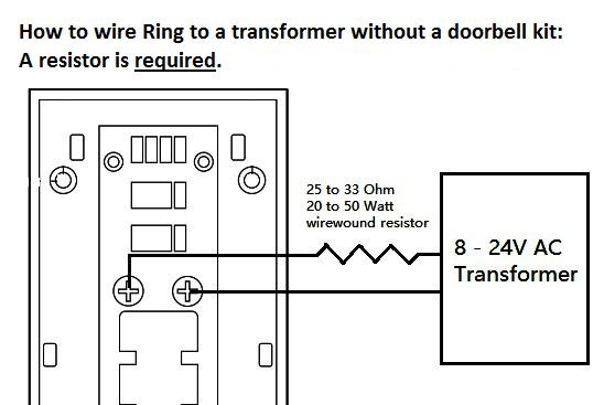 Ring Doorbell Directement Sur Transformateur  U2014 Yohann Imbert